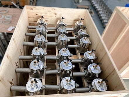 工业炉喷嘴的出口木箱包装箱打包装全程介绍