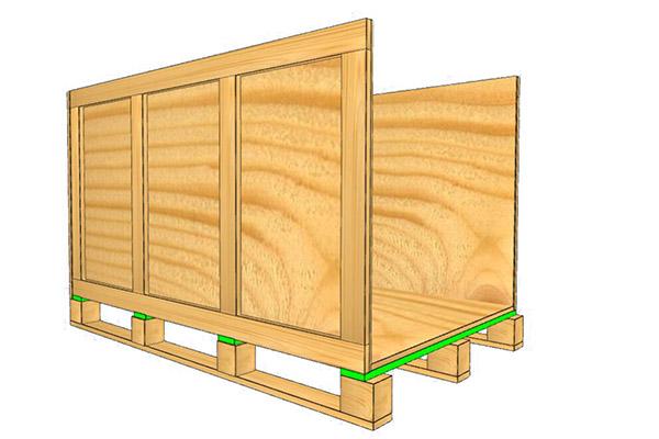 汽车木箱包装设计